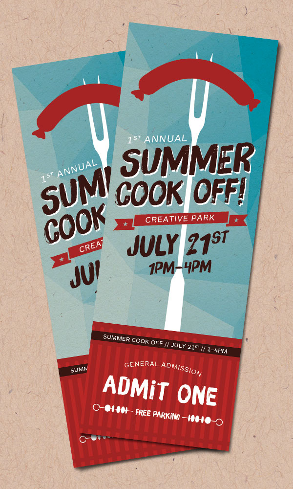 product recipes create a summer event ticket creative