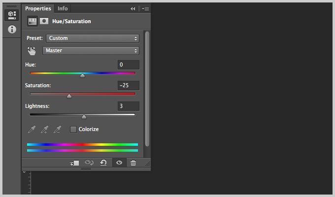 Photoshop Hue/Saturation Tool