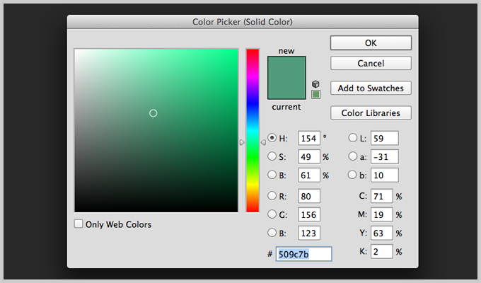 Using the Solid Color Adjustment Layer in Photoshop