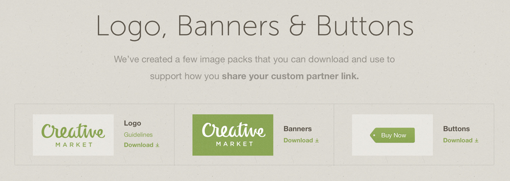 Creative Market Screen Shot