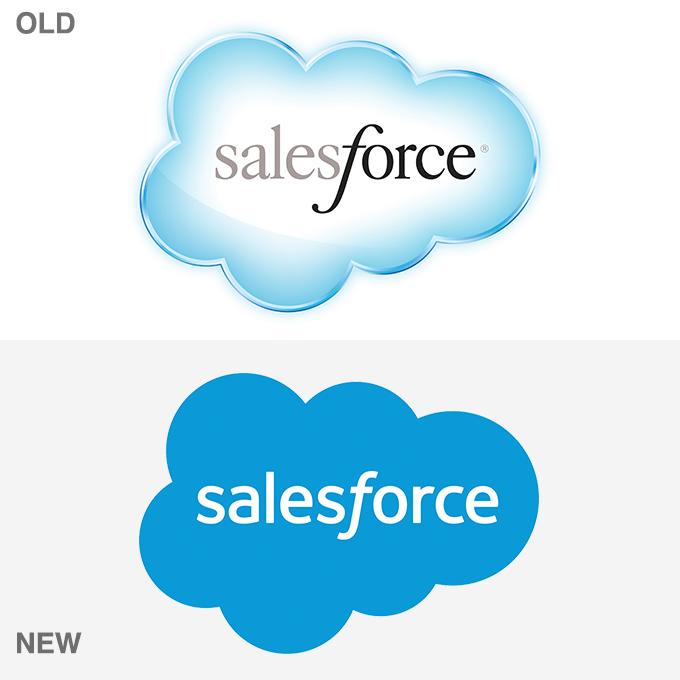 8 major brand logos that went flat in 2014 creative market blog rh creativemarket com Salesforce Cloud Logo Transparent Salesforce Cloud Logo Transparent