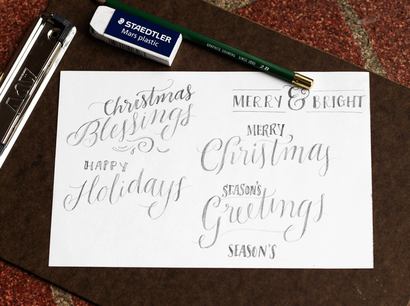 create a hand lettered holiday greeting card creative market blog