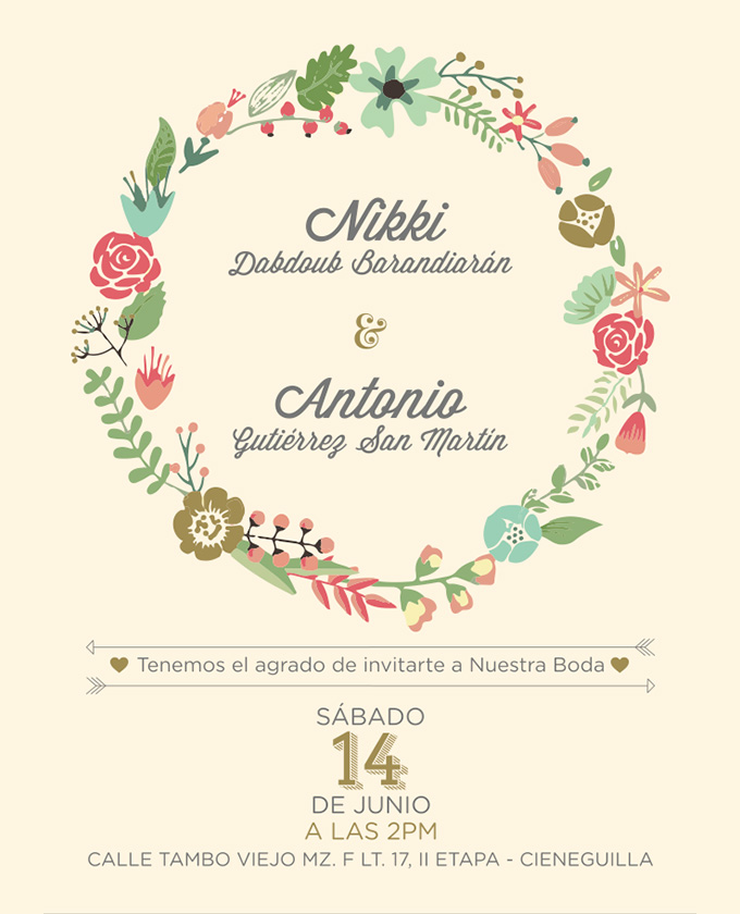DIY Wedding Invitations Floral Creative Market Blog