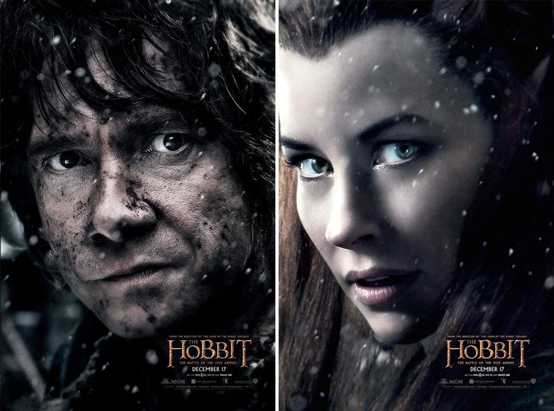 18 Stunning Movie Posters from The Hobbit: The Battle of ...