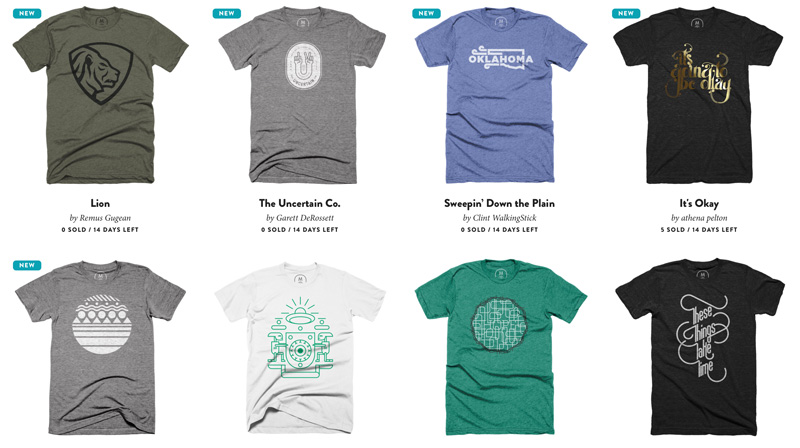 12 sites that sell cool t shirts for designers creative for Best website to sell t shirts