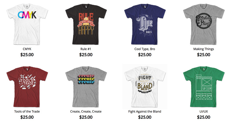12 sites that sell cool t shirts for designers creative for How to design and sell t shirts