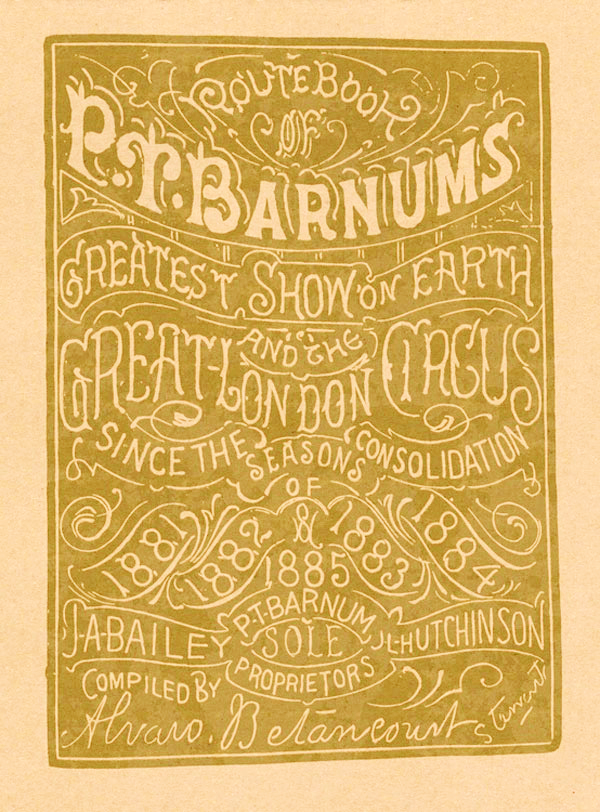 PT Barnum's Route Book
