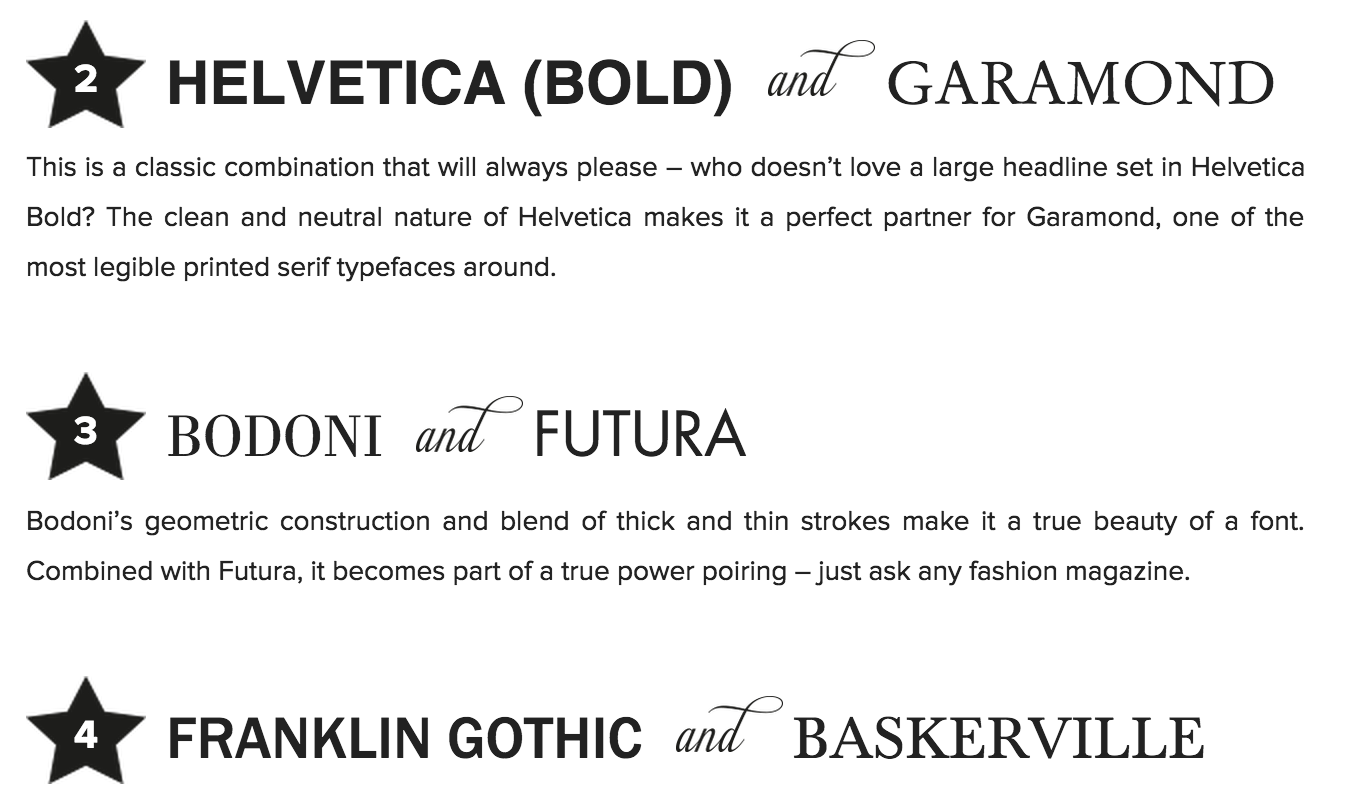 Creative Market  Great Resume Fonts