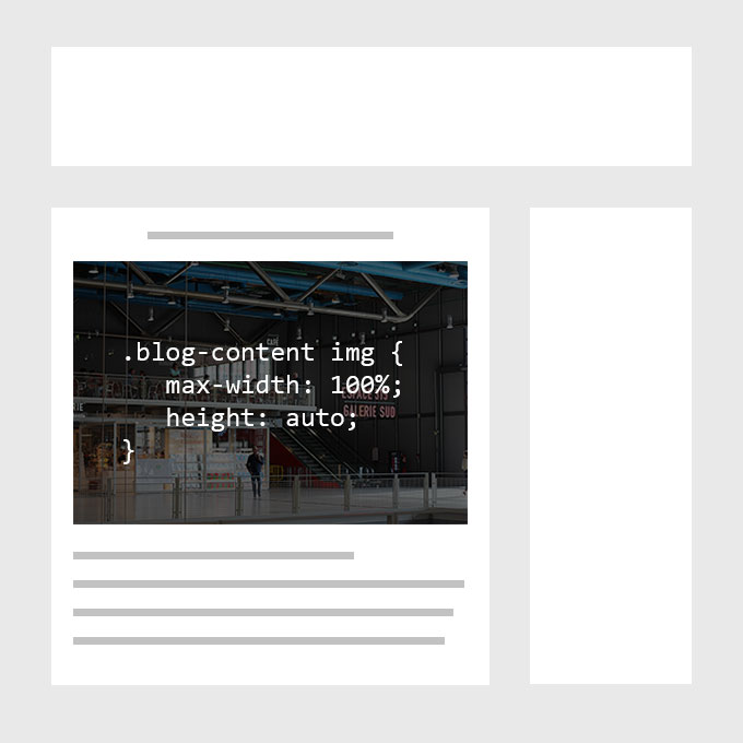 Change your blog CSS so your images stay within the content DIV and are sized proportionally