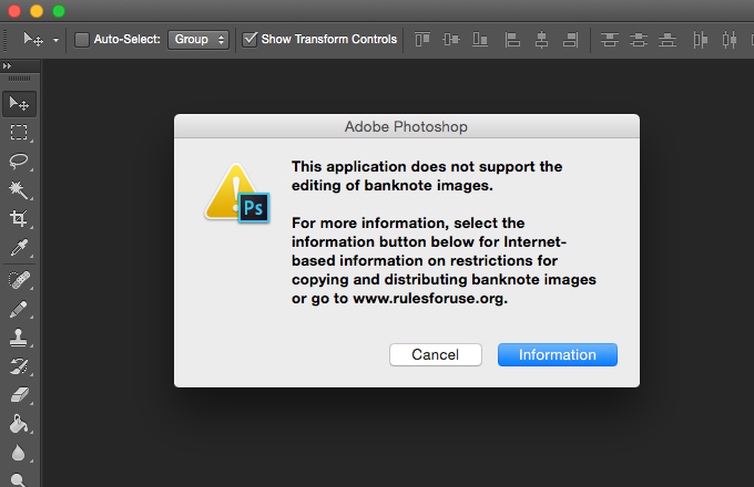how to avoid adobe photoshop counterfeit software warning