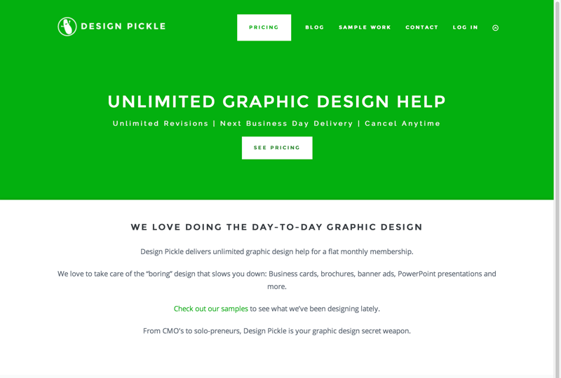 Design Pickle - Hassle Free Unlimited Design ServicesDesign Pickle (20150727)