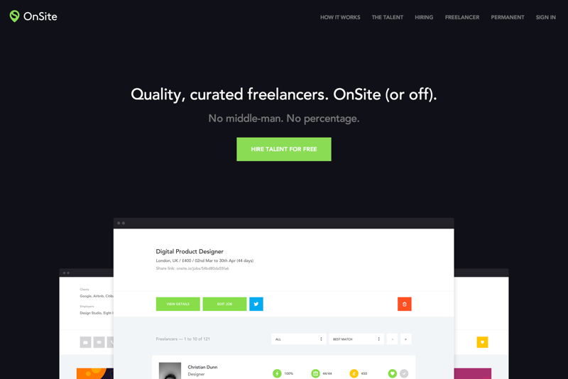 OnSite - Quality, curated freelancers. OnSite (or off). (20150727)