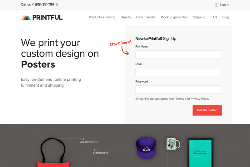 Printful - We print custom t-shirts, posters, canvas and other print products and send them to your customers (20150727)