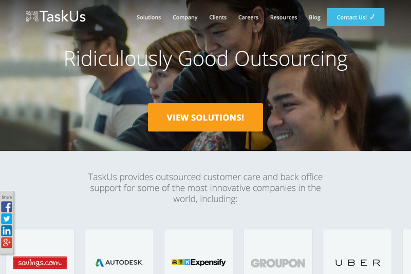 TaskUs | Ridiculously Good Outsourcing (20150727)