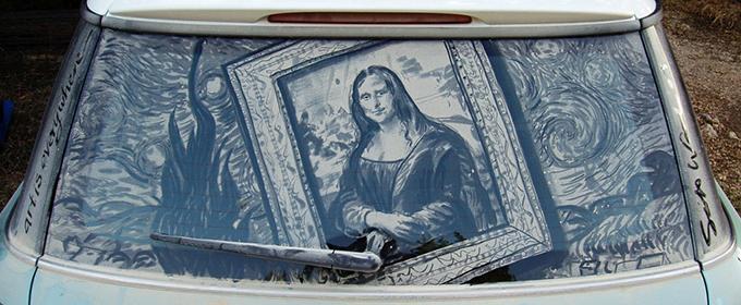Lukisan kaca mobil kotor 11