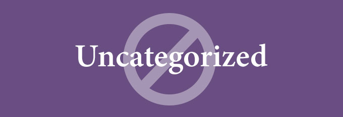 Don't forget to categorize your WordPress posts