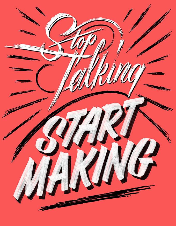 Stop Talking, Start Making — Jen Mussari Interview