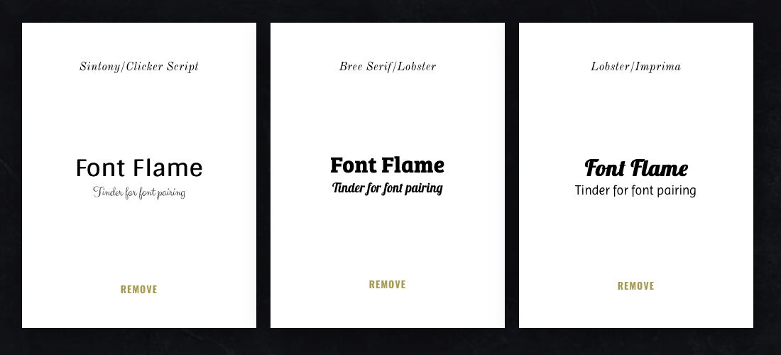 Pick Your Next Font Combination with Font Flame — Tinder for Font