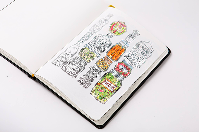 Coloring book notebook both and we 39 re loving it for Notebook with colored pages