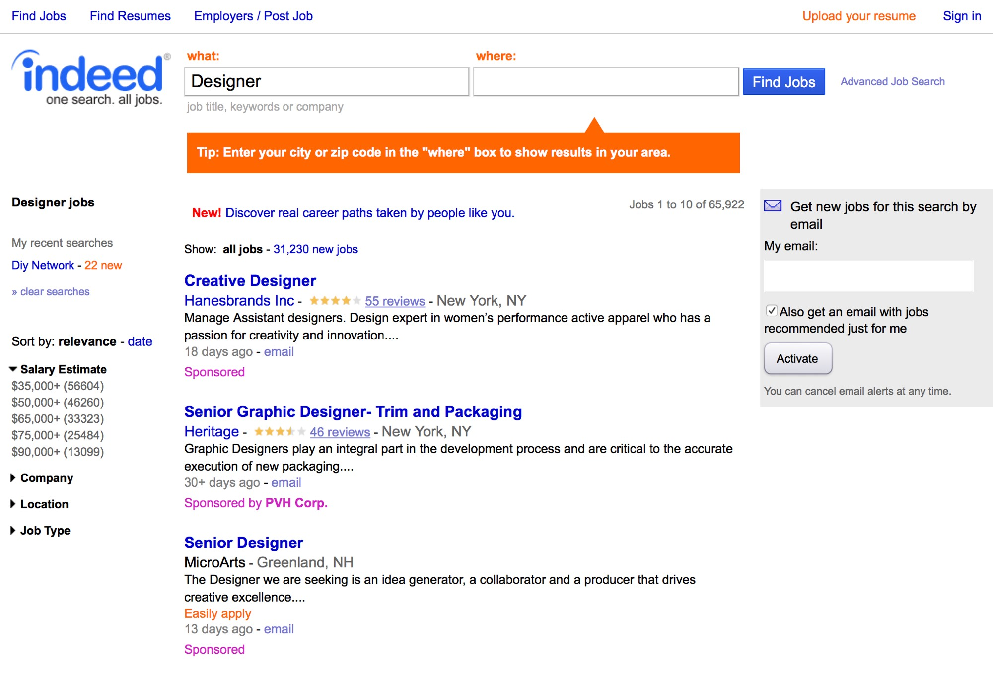 65,922 Designer Jobs available on Indeed.com. one search. all jobs.