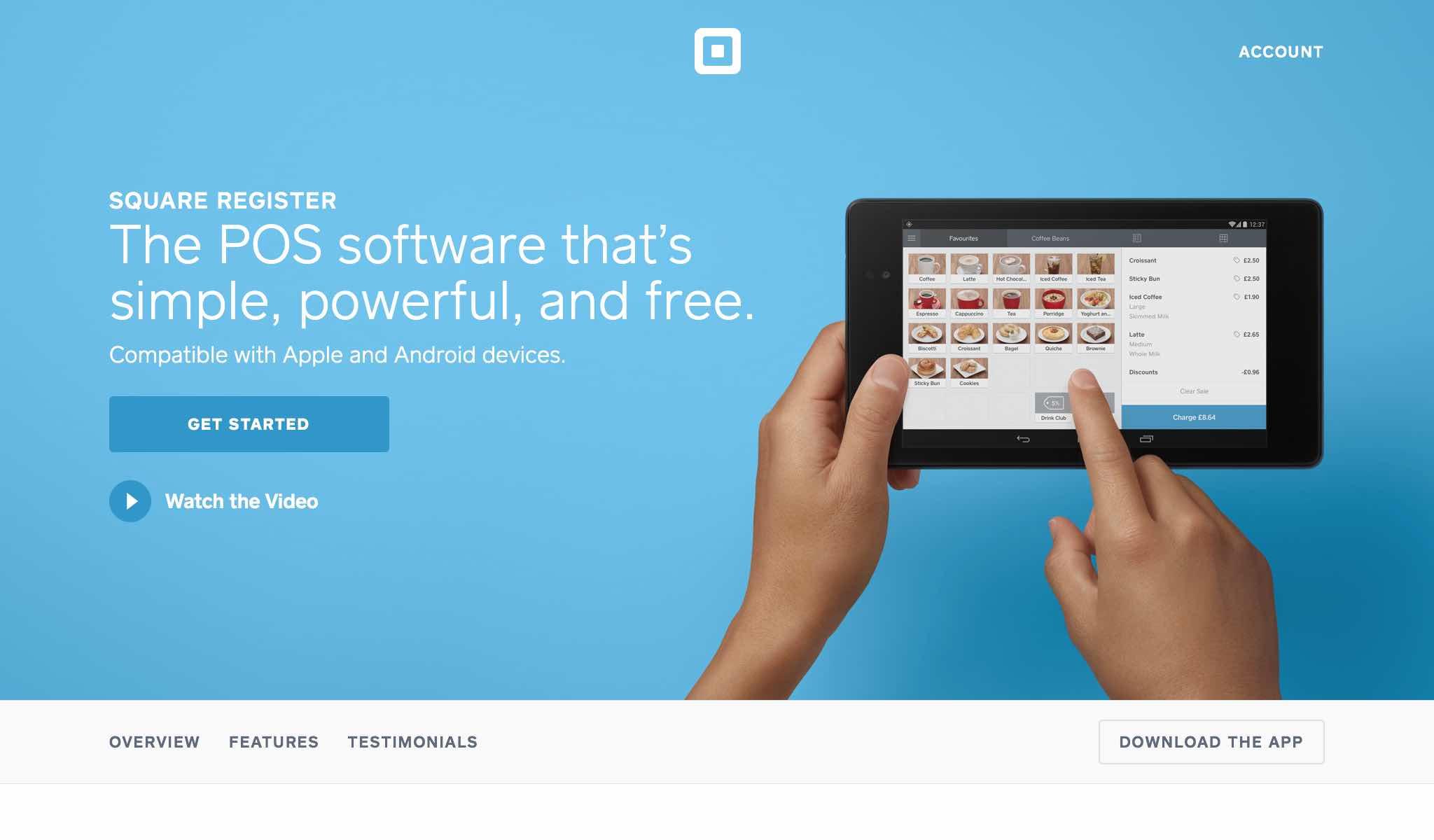 Free POS Software | Square Register