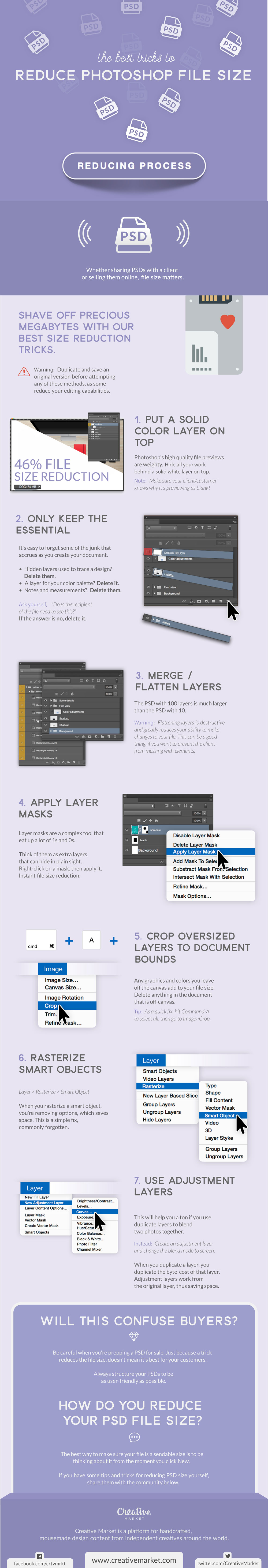 Infographic: The Best Tricks to Reduce Photoshop File Size ...