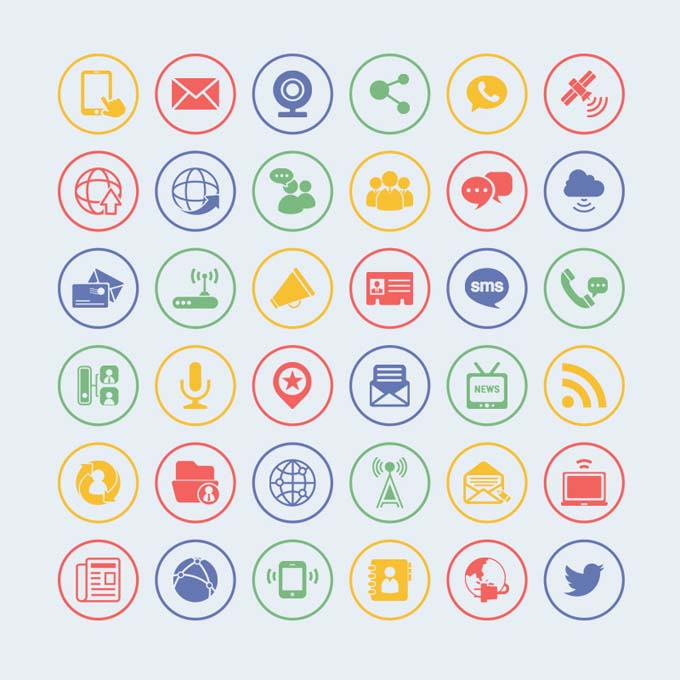 36-Free-Vector-Communication-Icons
