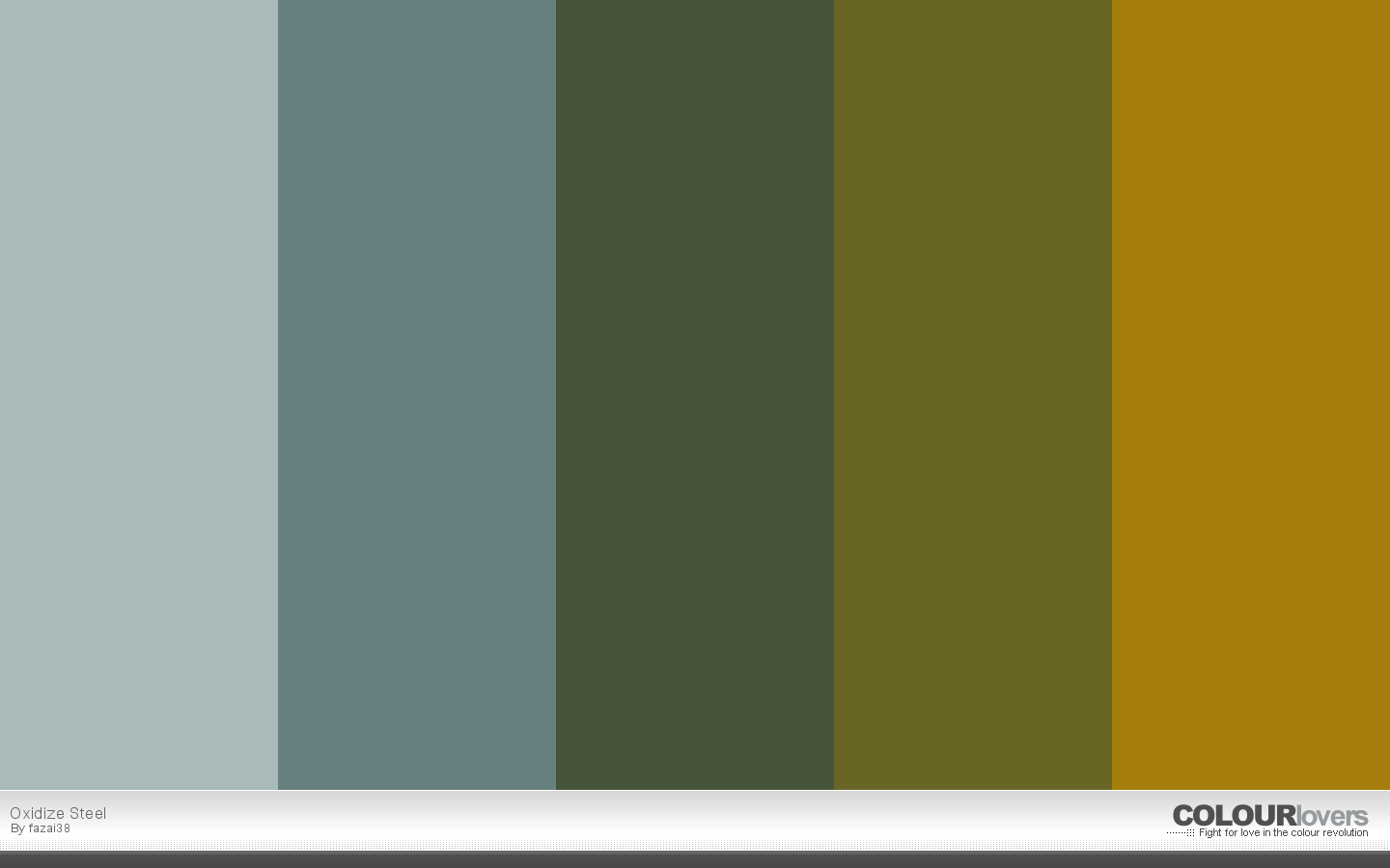 16. oxidize steel - metallic color palettes to try