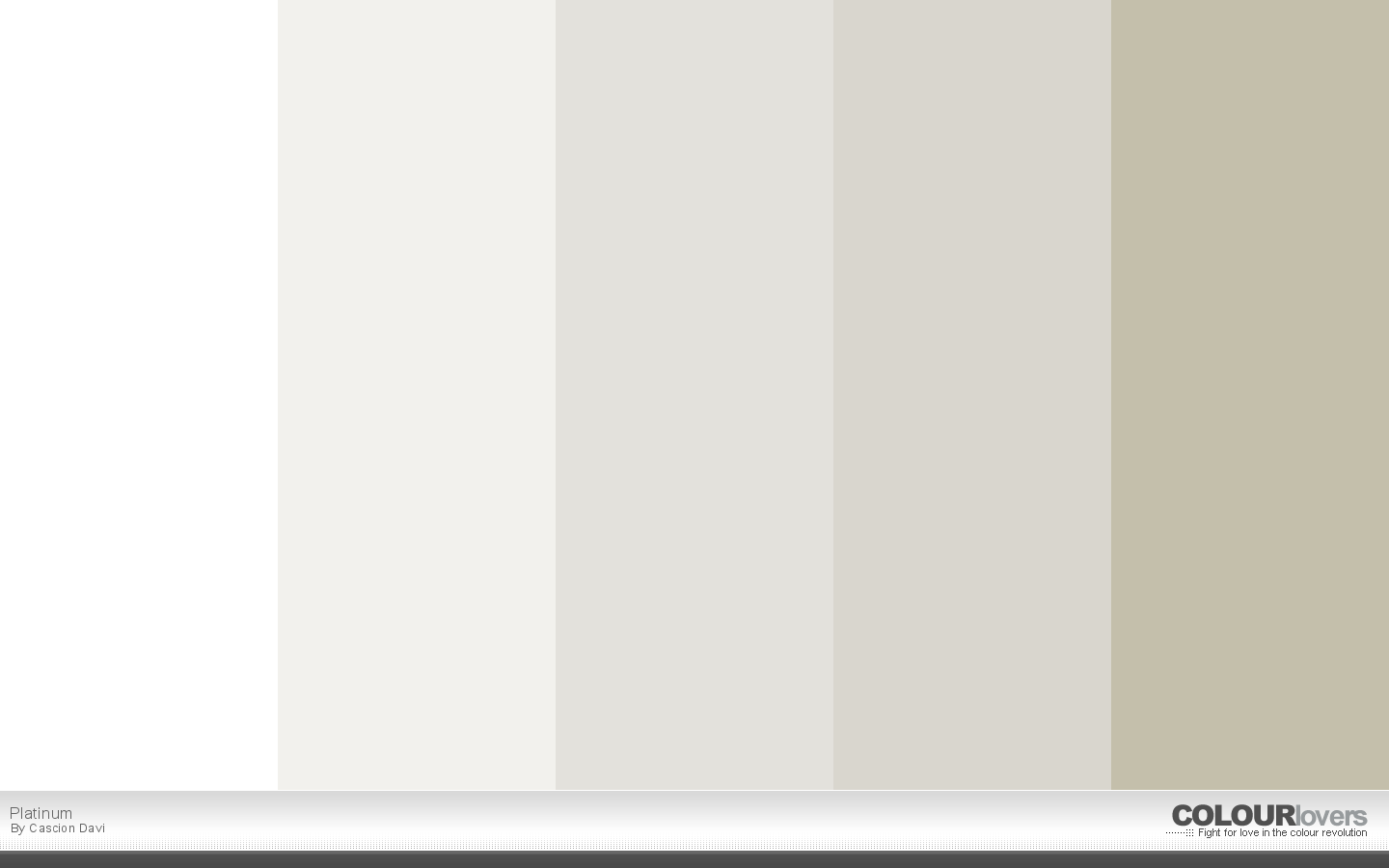 20 metallic color palettes to try this month april 2016 for White is all colors