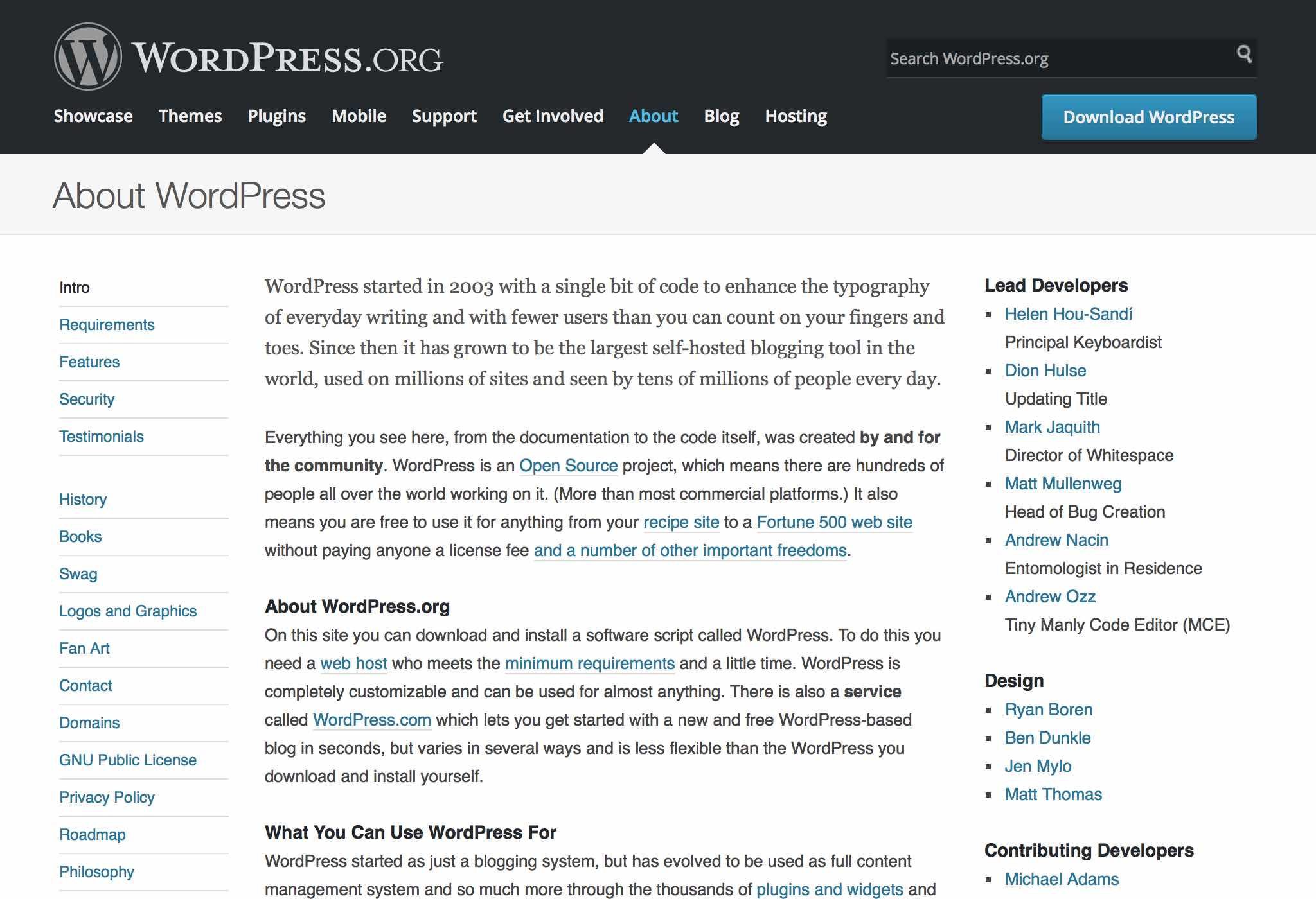 About — WordPress