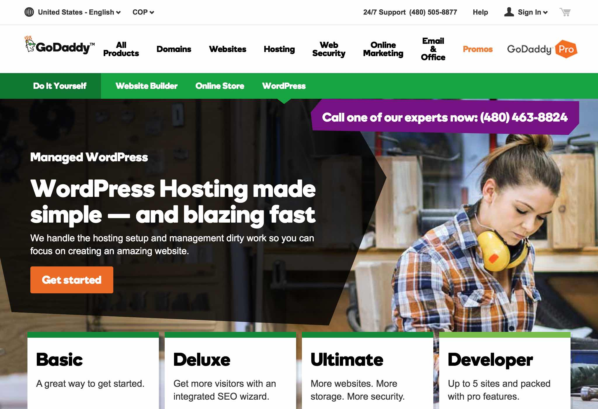 GoDaddy offers managed WordPress hosting at an affordable price, as well as easy installation of your WordPress domain.
