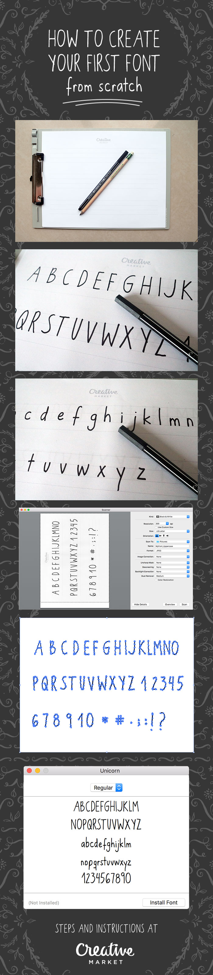 How to Create Your First Font from Scratch: A Step by Step