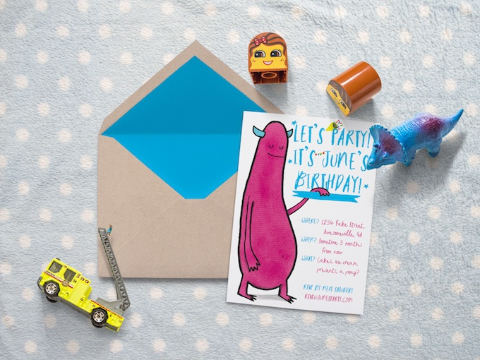 How to create a hand drawn birthday invitation with your ipad hand drawn birthday invitation stopboris Image collections