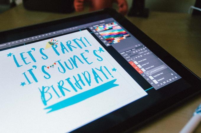 iPad Text Design