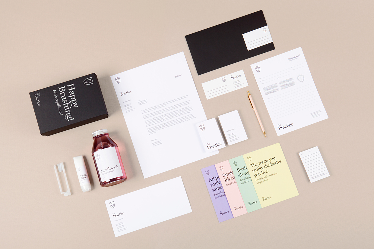 Brand identity for dental clinic The Practice by Mayra Monobe