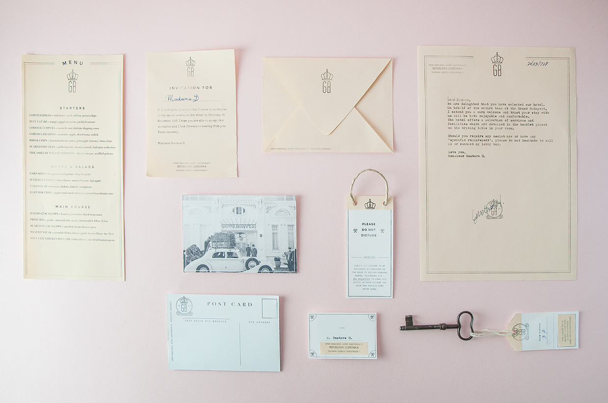 Branding the Grand Budapest Hotel by Andrea Bianchi