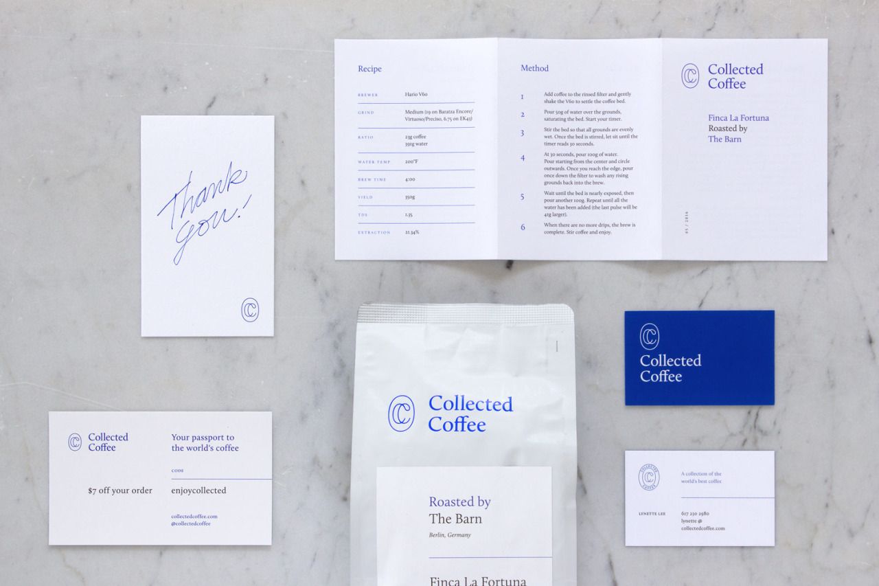 Collected Coffee Branding by Fivethousand Fingers