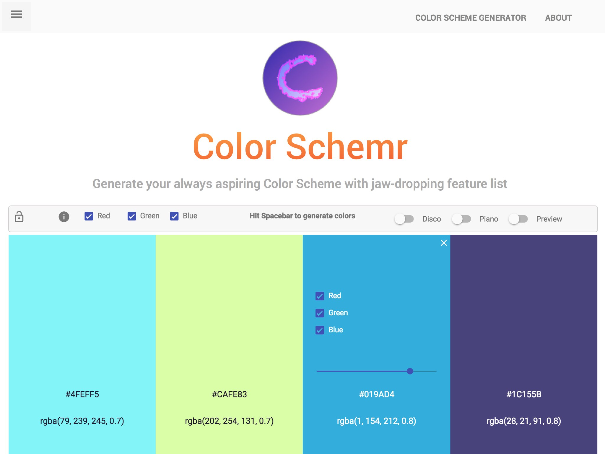 Color Schemr - to finalize your decent theme once and for ever.