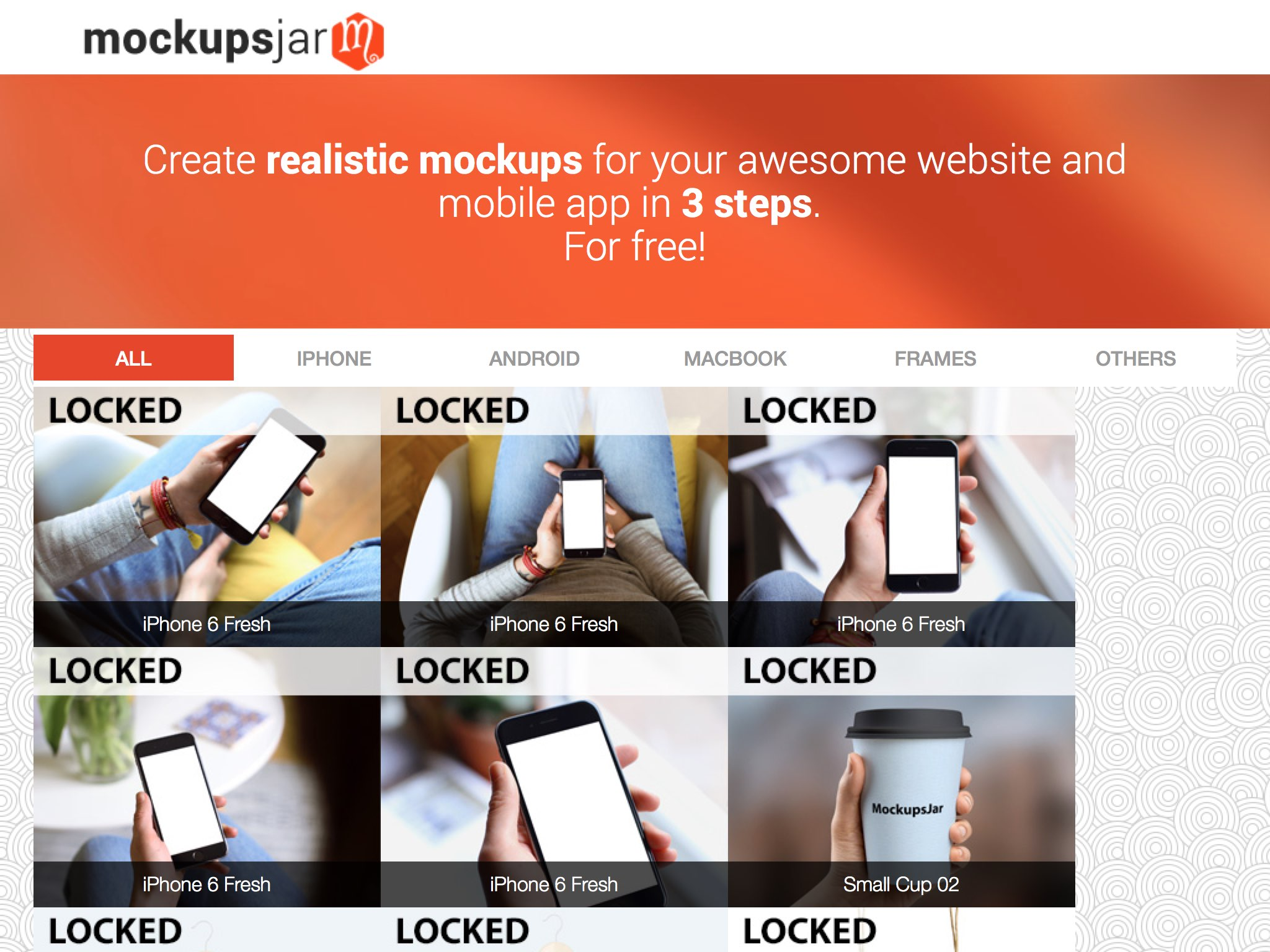 Create realistic previews for free for your website and mobile app