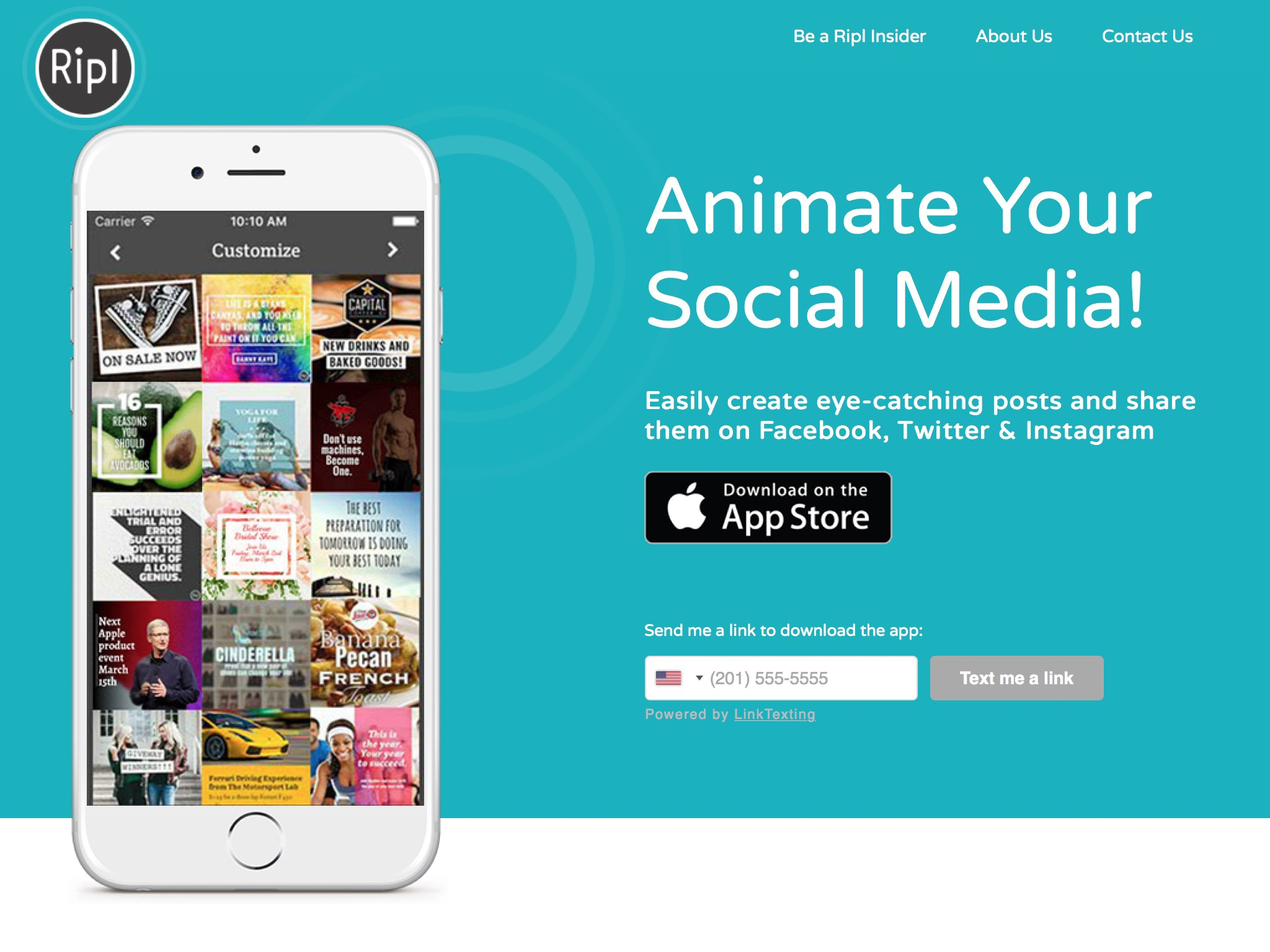 An app to easily create eye-catching posts that help you or your business stand out on social media.