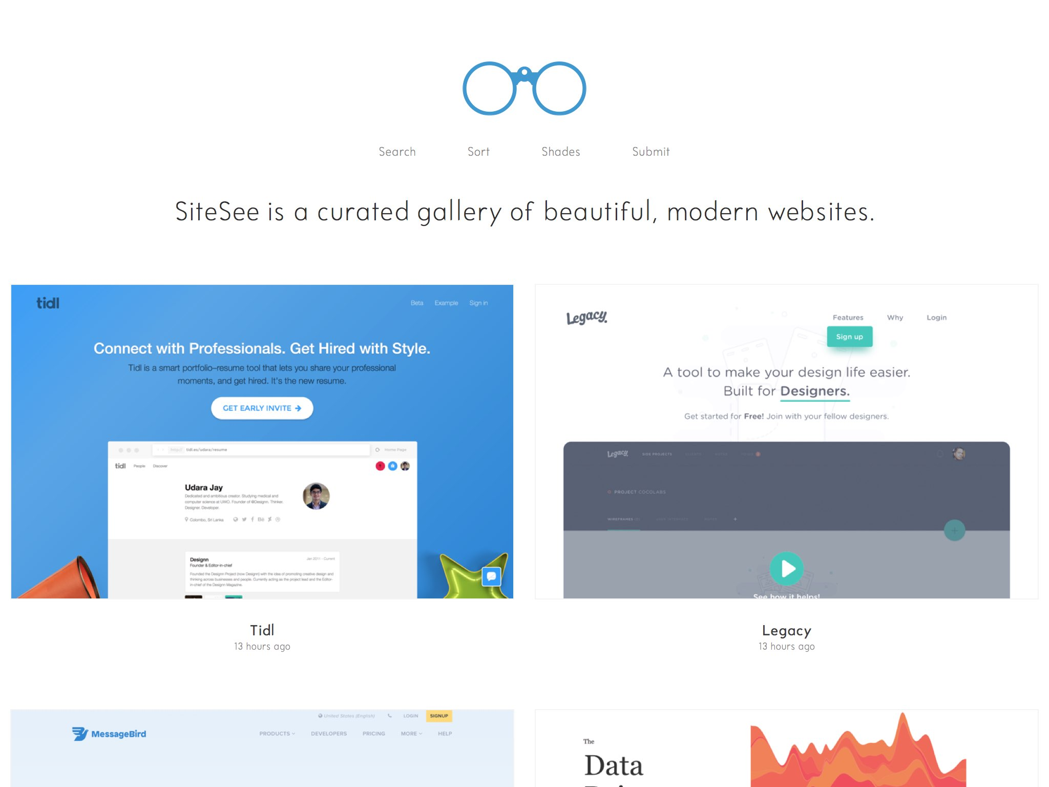 A curated gallery of beautiful, modern websites.