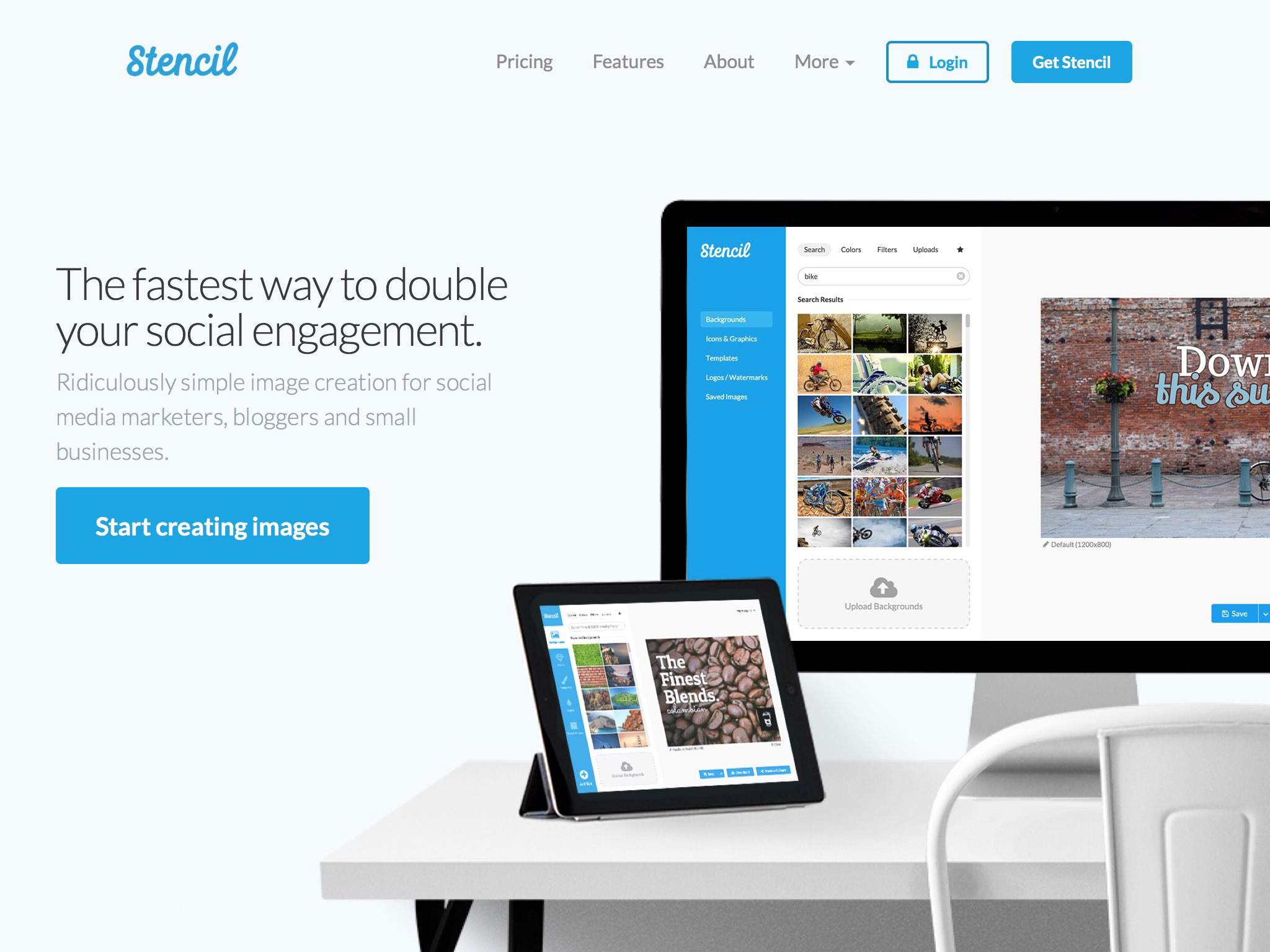 Ridiculously simple image creation for social media marketers, bloggers and small businesses.