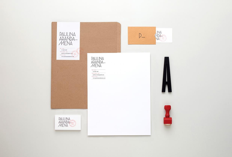 Identity for Paulina Aranda—Mena by Menta.
