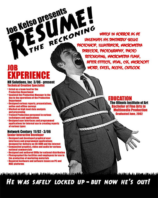 Awesome Resume creative cv 5 the awesome resume pink Joe Kelso Resume