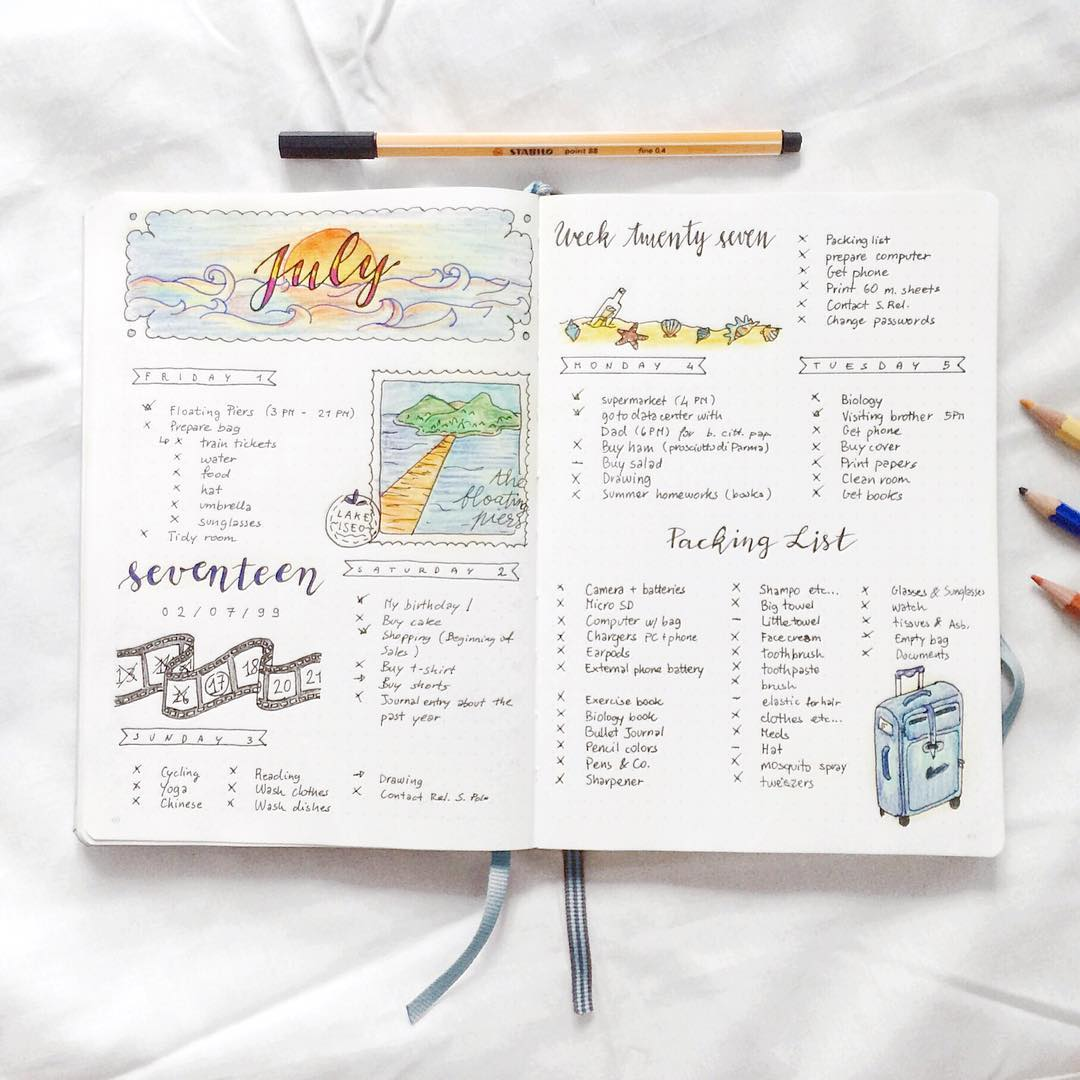 impossibly neat planners of instagram ~ creative market blog