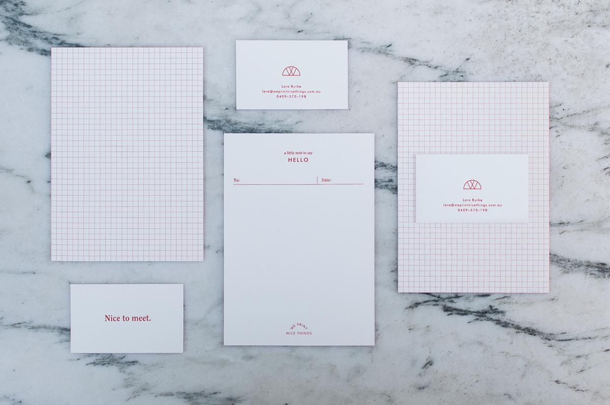 We Print Nice Things Branding by Noemie Le Coz