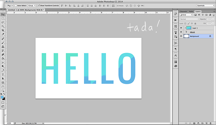 how to make clipping mask with text in indesign