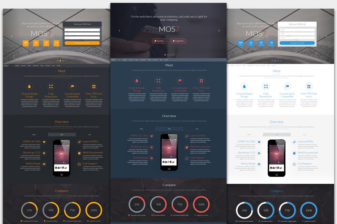 Mos7 - Responsive App Landing Page