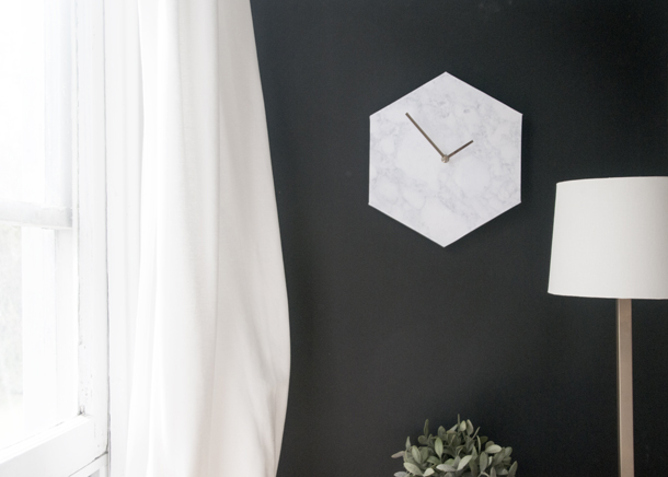 Office-Ideas-DIY-Marble-Wall-Clock