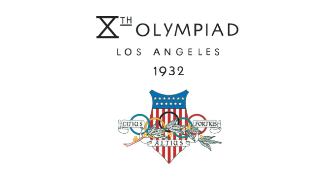 milton rates olympic logos - los angeles 1932